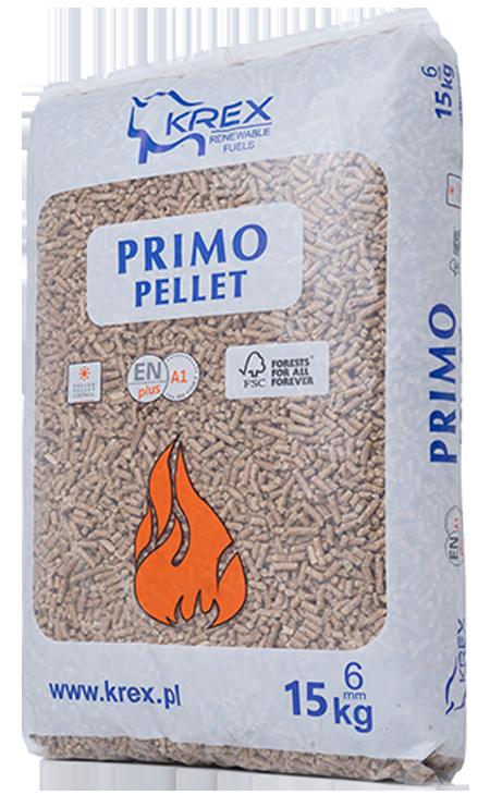 KREX <br> <small>Primo Pellet 6mm<br> Worek <br>15kg x 65szt. </small>