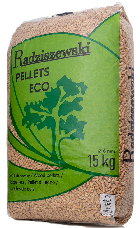 PELLETS ECO<br> <small>Pellet 6mm EN plus A1<br> Paleta <b>(975kg)</b></small>